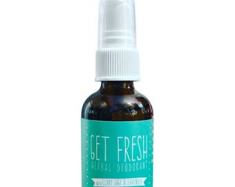 Deodorant Spray, Clary Sage & Lavender, Organic, Herbal Extracts, Himalayan Salt, Pure Essential Oils