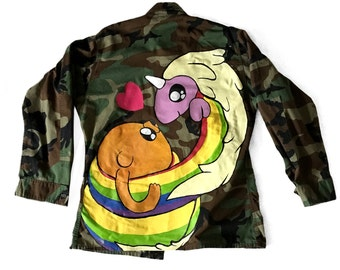 RAINICORN | Adventure time custom denim army jacket