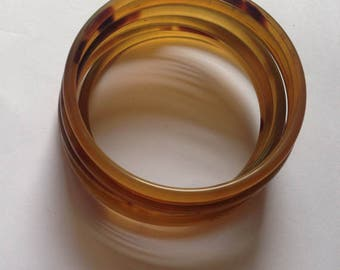 Set Of 7 Bangle Horn Lacquer Bracelet Handmade Jewelry VT031