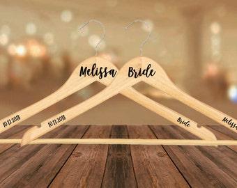 Personalised Wedding/Bridal Coat Hangers, Bride, Bridesmaid, Groom etc, Dress Coat Hanger