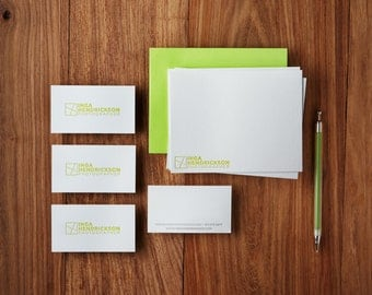 Custom Letterpress Stationery and Business Cards, Deposit Only