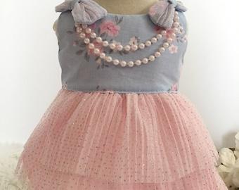 Dog clothes, dog dress, puppy dress, dog owl dress, dog clothes, dog wedding, Grace
