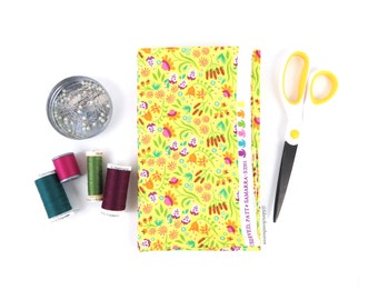 Modern Calico Yellow - HALF YARD - Timeless Treasures - Cotton Fabric - Quilting Fabric