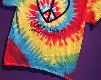 Peace & Love Tie Dye T-shirt