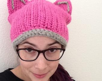 Pink cat hat - Adult