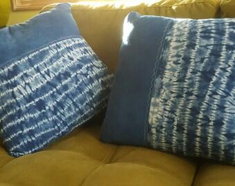 Shibori Indigo Pillow Case