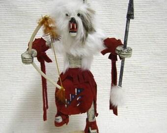 Native American Navajo Made Wolf Kachina Doll