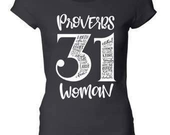 Provers 31 woman shirt - Scripture tee - Religious - Tops and tees - Mother's Day - Mom life - Biblical - Inspirational