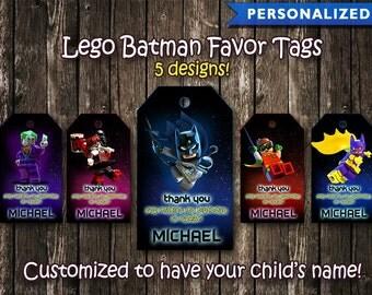 Lego Batman Thank You Tags, Lego Batman Favor Tags, Lego Batman Birthday Tags, Lego Batman Thank You Card (Printable Digital File)