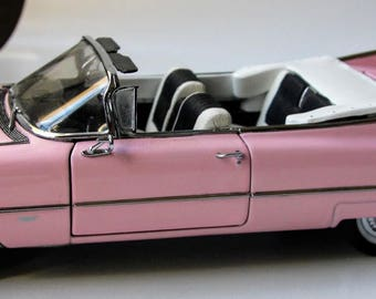 Vintage Danbury Mint 1959 Pink Cadillac Convertible Series 62//Original Box and Title