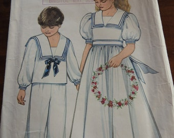 New Look 6269  VintageBoy's And Girl Nautical Outfits Sewing Pattern