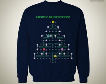 Christmas Pac-Man - SWEATER / Ugly Sweater
