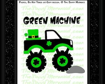 St Patricks Day SVG file- St Patricks SVG Cut file- St Patricks Day Truck SVG- Vinyl St Patrick Shirt Svg Cricut- Silhouette Dxf Iron On Boy