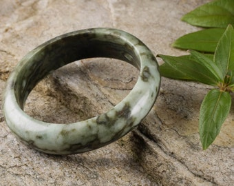 6.2cm JADE Bangle Bracelet from Burma - Jadeite Bangle - Jade Jewelry Stone Bracelet 28004