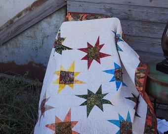 Quilt Uneven Star Lap Quilt