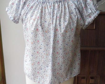 Handmade gypsy style top made from 1950s pattern