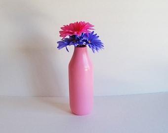 Pink Vases, Pink Milk Jug Vase, Large Vase, Pink Flower Vase, Flower Vase, Ceramic Vase, Pink Ceramic Vase, Large Pink Vase, Pink Milk Jug