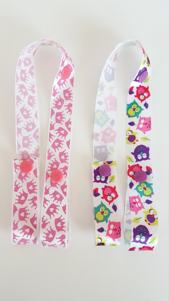 Handmade ribbon toy saver - baby accessories