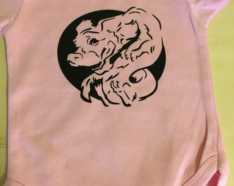 Falcor the Luck Dragon Neverending Story Style Personalized Baby Onesie