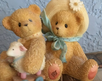 "Sweet ""Cherished Teddies"" Figurine Entitled ""Chelsea and Daisy, Old Friends Always Find Their Way Back"", Number 597392"