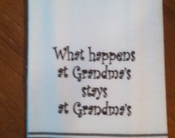"Tea Towel ""What Happens at the Lake stays at the Lake!"