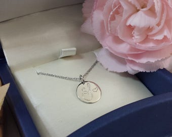 Solid 14kt gold initial necklace solid rose gold necklace solid yellow gold necklace solid white gold necklace 15 inch 18 inch 19 inch chain
