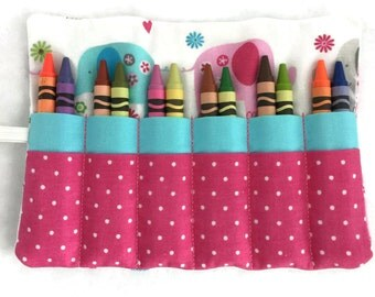 Crayon Roll Up - Crayon Wrap - Crayon Organizer - Travel Toy - Child's Gift