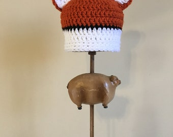 Fox Hat, Newborn Fox Hat, Crochet Fox Hat, Photo Prop