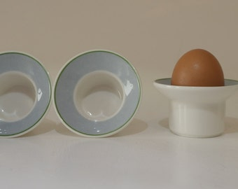 Set of Four 'Blue and White' 1980'S 'Villeroy & Boch' Porcelain Egg Cups