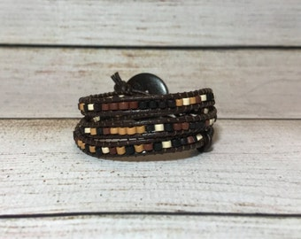 Chan Luu Style Bracelet, Beaded Wrap Bracelet