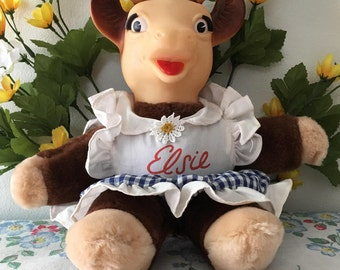 Early 1960's Stuffed  Elsie the Cow Doll
