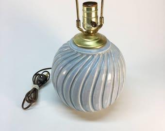 Mid century studio pottery ball lamp