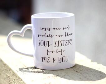 My sister has an awesome sister mug, funny mug, statement mug, mug for sister, just because gift, true story mug, sister mug, Soul Sister