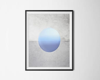 Blue Planet Poster, Blue Planet Print, Abstract Poster, Blue Planet, Art, Wall Art, Wall Decor, Wall Decor, Printable Art, Instant Download