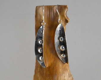 three peas in a pod - sterling siver earrings