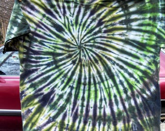 5XL 5XB Tie Dye T-Shirt - Earthy Spiral Design