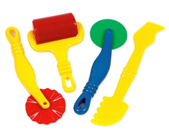 Dough Tools Play Set For Kids Set Of 4 Pastry Clay Pizza Doh Toys