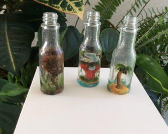 Painted Mini Tabasco Bottles