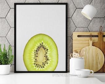 Kiwi Print, Kiwi Art, Kitchen Print, Kitchen Wall Decor, Minimalist, Modern Wall Art, Peekaboo, Printable Art, Photography Print, F01