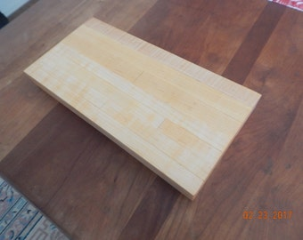 Small solid maple chopping block
