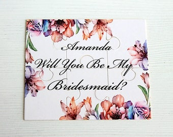 Will you be my bridesmaid gift puzzle, Maid of Honor gift, Maid of Honor puzzle, Bridesmaid gift,Ask bridesmaid, Bridesmaid Puzzle