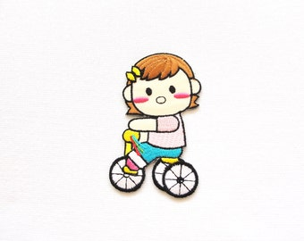 girl on bike  patch