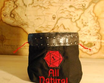All Natural (1) Dice Bag (Made to Order)