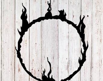 Dark Souls Decal, Darksign decal, Dark souls sticker, yeti decal, yeti sticker, tumbler decal, video game decal, black decal, vinyl decal