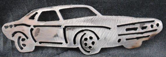 1970 Dodge Challenger, Wall Decor, Automobile Memorabilia, Classical Car, Metal Magnet, Toolbox Magnet, Refrigerator Magnet, Automotive Art