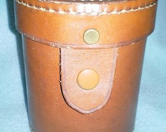 Vintage Full Leather Perrin of California Lens Case