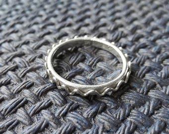 Simple sterling silver ring. Minimalist rocker silver ring. Grunge jewelry. Jewelry gift for him. Scandinavian minimalist jewelry design.