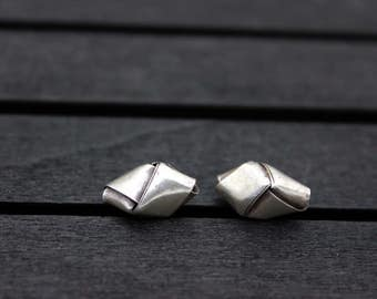 10 Sterling Silver Woven Beads