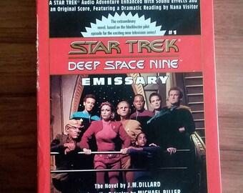 Star Trek Deep Space Nine Audio cassette books Emissary:based on the pilot episode//read by nana visitor//1993//startrek