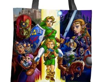 The Legend of Zelda: Ocarina of Time Sublimated Tote Bag